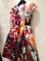 New Arrived Dress Luxury O Neck Empire Knee Length Fashion A Line Vestido De Festa Dresses Women