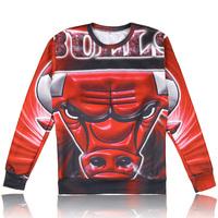 New mens red bull print sweatshirt autumn casual men hoodies 3D bulls logo/letter printed crewneck sweaters wholesales LL1597