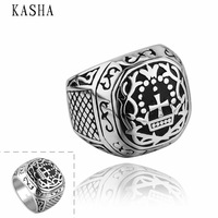 Stylish New 316L Stainless Steel Men's Skull Rings Punk Vintage Party Skeleton Jewelry 316L stainless steel punk ring KASHA021
