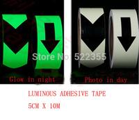 Luminous photoluminescent adhesive tape Glow in dark night,5CM x10Meter,Free shipping