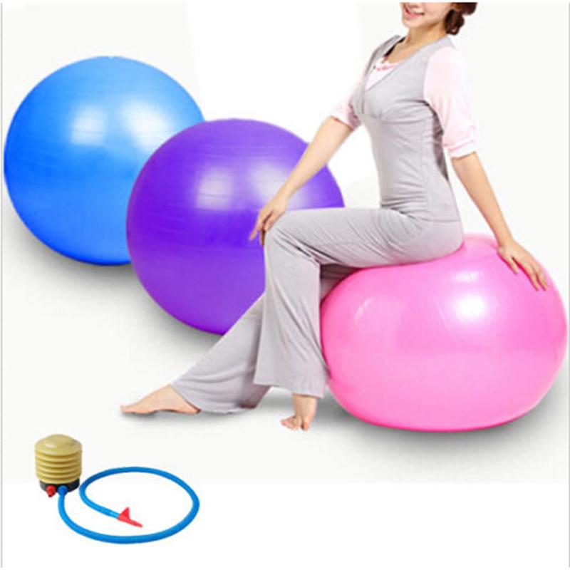 55CM Balance Stability Health Gym Home Gym Exercise Pilates Equipment Fitness Ball Yoga + Air Pump 4 Color(China (Mainland))