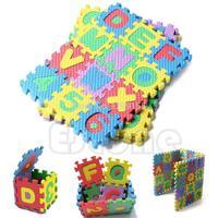 36Pcs Mini Size Puzzle Kid Educational Toy Alphabet A-Z Letters Numeral Foam Mat