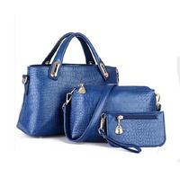 2015 Valentine'S Day Gift Luxury Women Bag 3 Pc/Set Composite Bag Crocodile Women Messenger Bags High Quality Handbag Tote