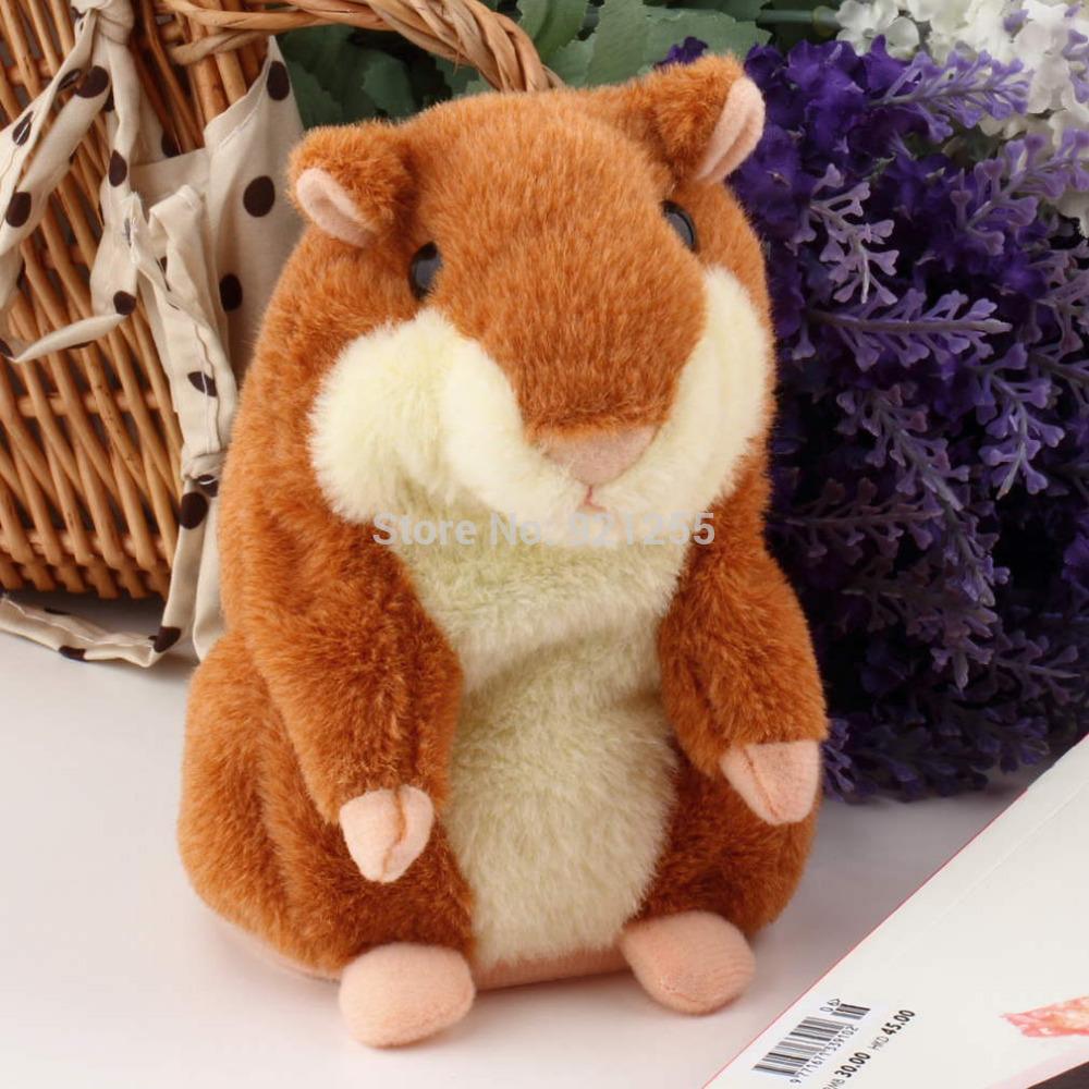 Para meninos e meninas linda falando Hamster pelúcia brinquedo bonito fala
