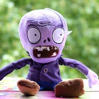 Free Shipping Allhallowmas Plants Vs Zombies Gray/ Purple Zombie Plush Toy