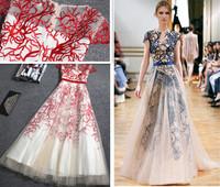 2015 Top Elegant Embroidery long evening dress vestidos de festa vestido longo S000