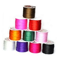 1mm campuran warna tali datar beludru imitasi Tali Kulit tali elastis Garis elastis Kabel DIY 10meter