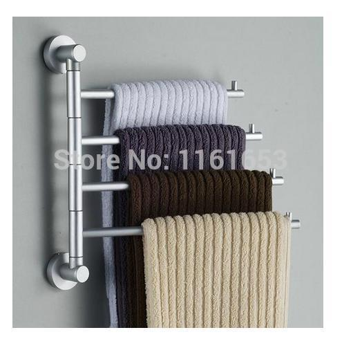 2014 New Arrival Bath Accessories Sets Shower Door Rollers Space Solid Rotary Activities All Towel Bar The Bathroom Toilet Shelf(China (Mainland))