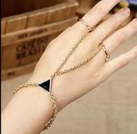 ZH1024 NEW 2015 Multi Bracelet Bangle Slave Chain Link Interweave Finger Hand Harness bracelets & bangles