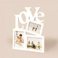 Free Shipping! Wooden Love Photo Frame White Color Creative Photo Wall Frame Home Decoration Gift Hot Selling!