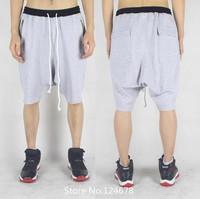 drop crotch shorts low crotch baggy pants hip hop swag streetwear skateboard black men clothing styles yeezus black star brand