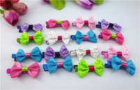 24pcs 2015  fashion small Dot Boutique Bows Hair band hair Accessories Ribbon Bow  hair clps headwear for girl HD141230-8