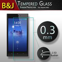 2.5D Original Premium Tempered Glass Screen Protector Film For Xiaomi 3 mi3 mi3s m3 Round Edge High Quality