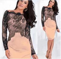 2015 HOT High quality Sexy Lace Fashion Party  Evening Women Pencil Slim Dress simWC1143