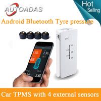 android bluetooth  tpms psi bar tyre pressure monitoring system 4 external sensors  car tpms  psy  diagnostic Tools tpms psi