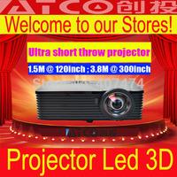 5800 Lumens Video Home Cinema Projector Full HD 3D Projector Short Throw Mini DLP Projectors Proyector
