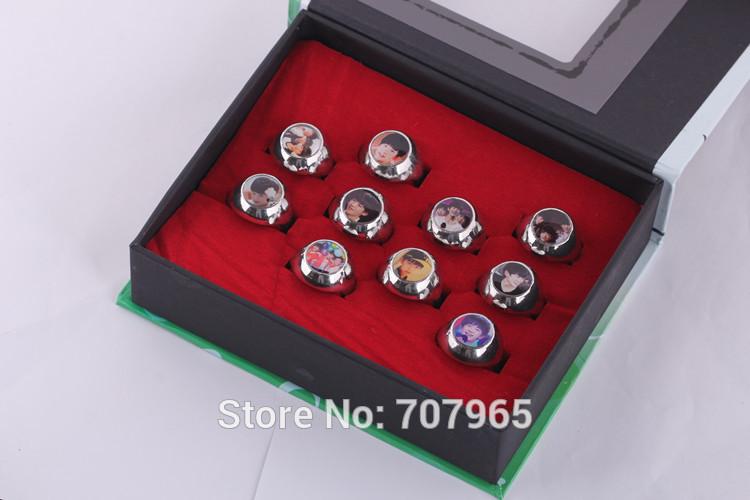 10 pieces / lot T F a family ring suit TFBOYS chun-kai wang rings around stars(China (Mainland))