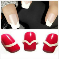 Different Designs French Smile Easy Beauty DIY Nails tape Tools round square Nail Art Nail Sticker Gel Nail Stickers