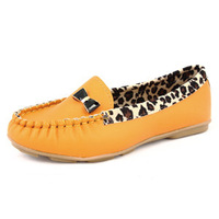 2014 women's wholesale Leopard shoes woman casual shoes-Korean edition Softcover shoes flat women shoes Free shipping