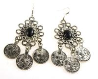 2015 Black Color Imitation Gem Jewelry Beads Bohemia Drop Earrings For Women New 2015 Earrings BrincosWholesale Bijoux
