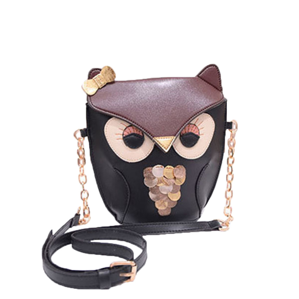 Women Girls Owl Pattern Printed Mini Handbag Strap Shoulder Bag(China (Mainland))