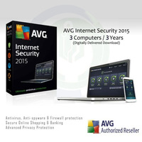 AVG Internet Security 2015 2014 2013 General 3 Years 3 PC Antivirus System Optimization Genuine Software Official Authorization