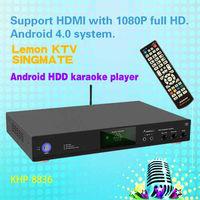 8836(#2) Android Hard Disk Lemon KTV karaoke product with HDMI 1080P ,Support MKV/VOB/DAT/AVI/MPG songs,songs favorite function