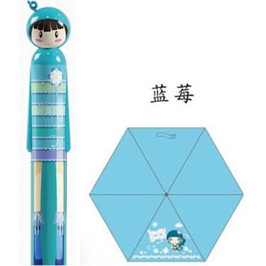 Home life(Blue) pencil fruit doll umbrella limited selling models UV sun umbrella Several ShippingsFastest(China (Mainland))