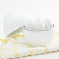 New White Microwave 4 Egg Cooker Steamer Poacher Kitchen Cooking Boiler Utensil [GM61]
