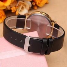 New arrival quartz watch women geneva fashion leather watch dress luxury ladies wristwatches female clocks and