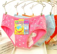 4 pcs/lot 2015 new high-quality female Menstrual leak proof antibacterial physiological Briefs women Menstruation underwear
