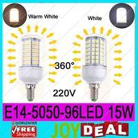 AC220V-240V E14 5050SMD 96LEDs 18W High Quality Bright Corn LED Bulb Wall Lamps Ceiling light White 6500K or Warm White 3200K