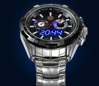 Upgraded version Luminous TVG 579 City Hunter Led Quartz Wristwatch Fashion Sapphire Waterproof Dual Time Men Military Watches