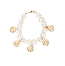 Shell pearl elastic  female bracelet/ new 2015 korean luxury hand chain/pulseras mujer/pulseiras femininas/charm/perola/berloque