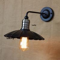 Iron RH Loft American industrial chandeliers bedroom study Edison retro restaurant bar pot droplight wall industrial lamp
