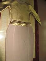 2015 New Arrival Two piece kim kardashian celebrity dresses Long Sleeve party evening HL Gold bandage dress drop shipping