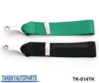 Free shipping - (H Q)TAKA Stlye Racing Universal Tow Strap with FIA Approve Black/Green TK-014TK Default color is Black