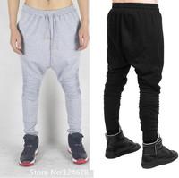 Drop crotch biker skinny joggers pants hip hop slim fit sweatpants brand designer pyrex hba kanye west tyga harem black star