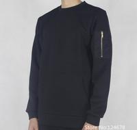 Neoprene bomber sweater sweatshirt men side zipper streetwear hip hop swag skate pyrex hba slim fit black star been trill tyga