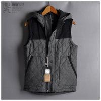 Fashion sewing machine male vest slim turn-down collar cotton vest male fashion brief
