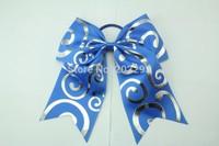 swirl print ribbon cheerbows
