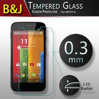 Retail Ultra-thin 2.5D Premium Tempered Glass Anti-shatter Screen Protector Film For Motorola Moto G XT1032 Original
