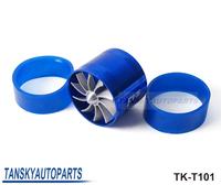 Free shipping -(H Q) Turbo supercharger SinglesideFan Performance Force Flow Turbine Fuel Saver TK-T101