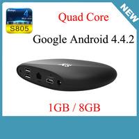Original TV BOX Amlogic S805 Quad Core Android 4.4 1GB/8GB XBMC WIFI Airplay Miracast H.265