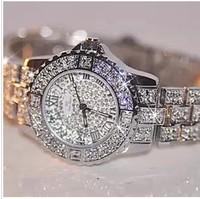2014 full steel  women rhinestone watches famous brand watch vintage quartz lady dress watch bling diamond crystal wristwach