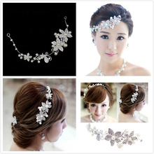 Bride pearl soft chain hair accessory rhinestone flower hair accessory wedding accessories marriage accessories