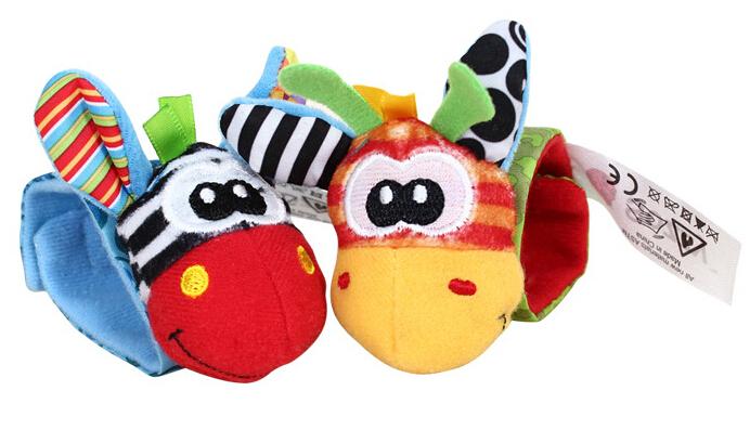 10 pçs/lote Original chocalhos sino de mão brinquedos do bebê faixa de relógio banda 1230 sylvia 35196036962(China (Mainland))