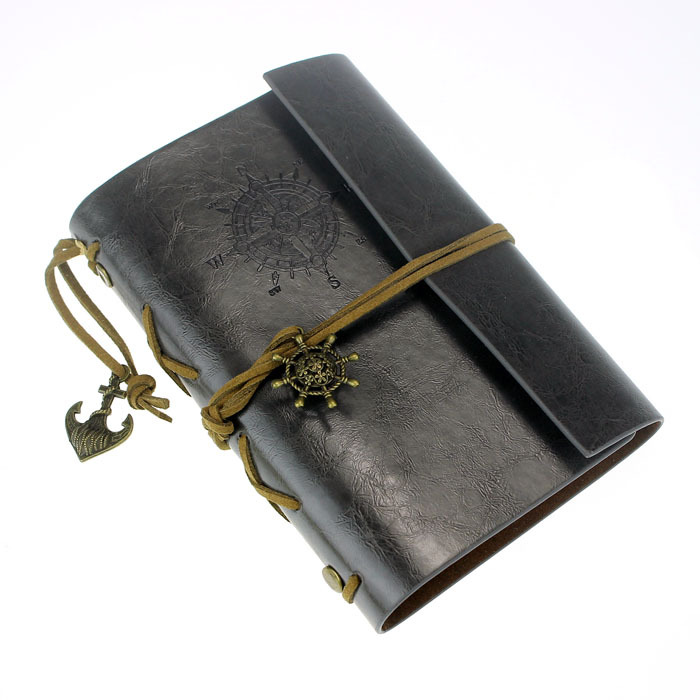 100% High Quanlity!! 2015 New Fashion Vintage Style Mariner compass With String Leather Notebook Case Cover Journal Diary Blank(China (Mainland))