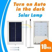 10pcs/lots 12 LED Solar Sensor Lighting Solar Lamp Powered Panel LED Street Light Outdoor Path Wall Lamp Security Spot Light