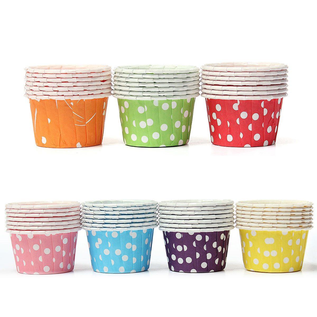 New 100Pcs Cute Dot Design Cake Liner Cupcake Miffin Cases Baking Dessert Holder Cups(China (Mainland))